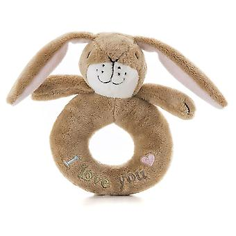 Rainbow Designs Guess How Much I Love You Little Nutbrown Hare Ring Rattle