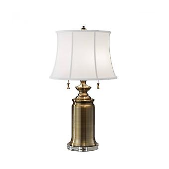 Stateroom Lamp, Messing, Met Lampenkap