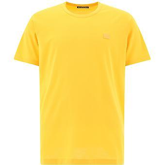 Akne Studios 25e173honeyyellow Miehet&s Keltainen Puuvilla T-paita