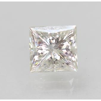 Certificado 0.98 Carat F Color VS1 Princesa Diamante Natural Mejorado 5.48x5.28mm