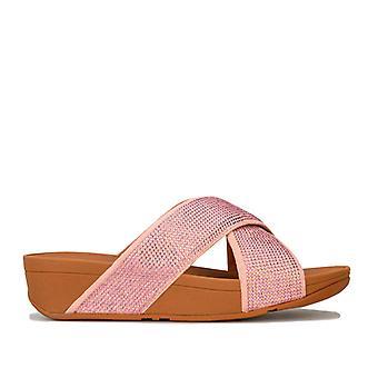 Women's Fit Flop Ritzy Slide Sandals in Pink