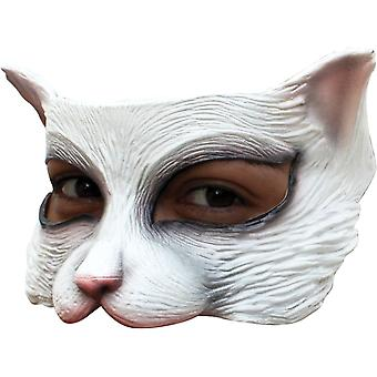 Kitty White demi-masque Latex pour adultes