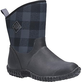 Muck Boots Muckster Ii Short Outdoor Pull On Waterproof Boots Black / Grey Plaid
