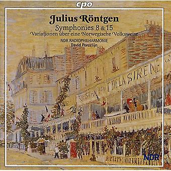J. Rontgen - Julius R Ntgen: Symphonies 8 & 15 [CD] USA import