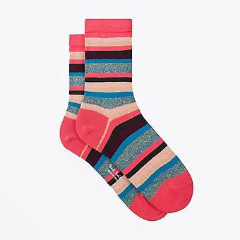 PS Paul Smith  - Glitter 'Swirl Stripe' Socks - Multi
