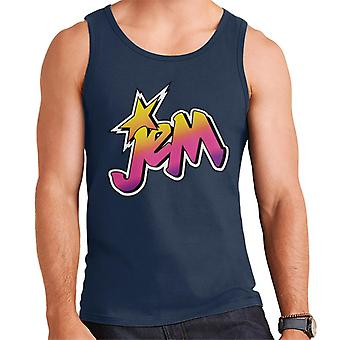 Jem And The Holograms Classic Faded Logo Men's Vest
