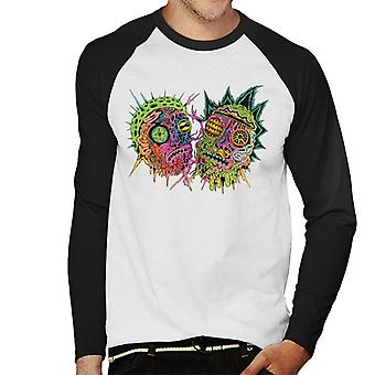 Rick e Morty Psichedelico Faccia Uomini's Baseball Long Sleeved T-Shirt
