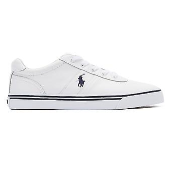 Ralph Lauren Hanford Mens Pure White Leather Trainers