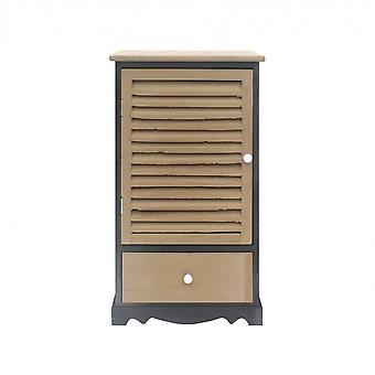 Rebecca Møbler Comfort Cabinet 1 Anta 1 Sort skuffe Grå 73x42x32