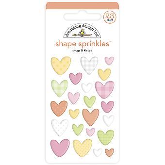 Doodlebug Design Snugs & Besos Forma Sprinkles (23pcs) (6757)