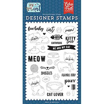 Echo Park Kitty Love Clear Stamps