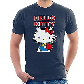 Hello Kitty Holding Apple Men''s T-Shirt