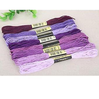 Cross Stitch algodón coser Skeins Craft bordado hilo Floss Kit - Diy