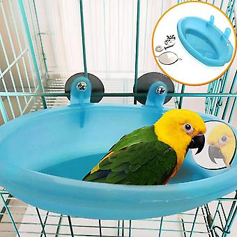 Pipifren Parrot Bathtub With Mirror Bird Cage Accessories Mirror Bath Shower