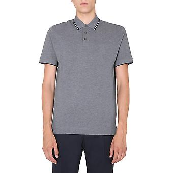 Z Zegna Vv360zz661k98 Männer's grau Baumwolle Polo Shirt