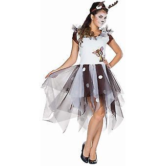 Hjorte Ladies Animal Costume Forest Hjorte Kostume Rehkitz Carnival