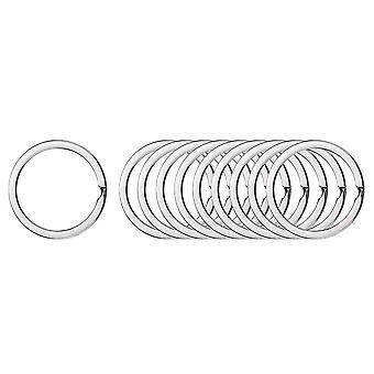 200PCS Rond Anneau de chaîne de clé plat Argent 2.0x28mm