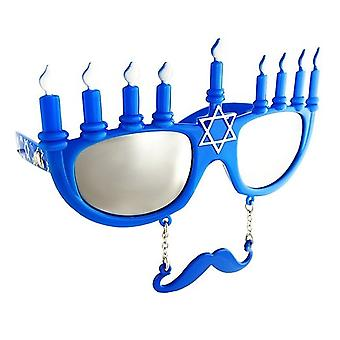 Party Costumes - Sun-Staches - Menorah Toys Sunglasses SG1544