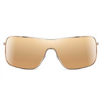 نظارات شمسية درع الرجال للرجال كامل مؤطرة القط. 3 الذهب / الذهب