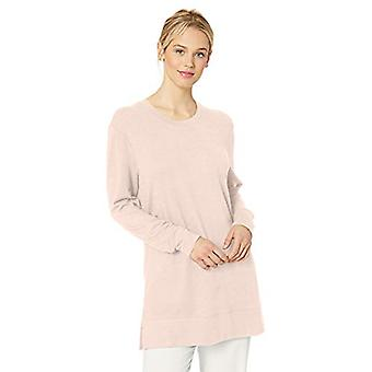 Brand - Daily Ritual Women's Cozy Knit Side-Vent Tunic, Pink , Large