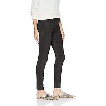 Brand - Daily Ritual Women's Sateen 5-Pocket Skinny Pant, dark grey, 4