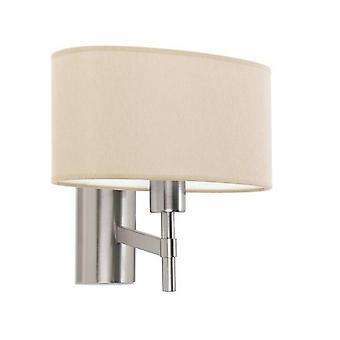 Leds-C4 Bristol - 1 Light Indoor Wall Light Satin Nickel, E27