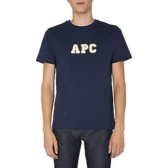 A.p.c. Coeikh26924pia Men's Blue Cotton T-shirt