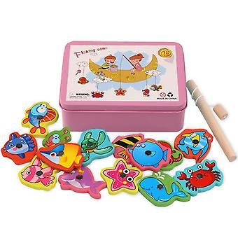 New Wooden Magnetic Kids Fishing Game Educational Toys For Children.