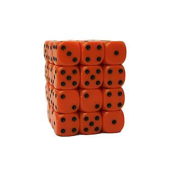 Chessex Opaque 12mm D6 Block - Orange/black