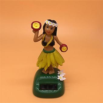 Solar Powered Dancing Hula Girl Swinging Bobble Toy Gift For Car Decoration - Novelty Solar Dancing Toys For Children
