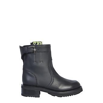 Ash Tycoon01 Botas de tobillo de cuero negro