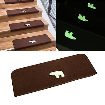 Non-slip Luminous Carpet Stair Treads Shine At Night Bear Anti-skid Stairs Rug