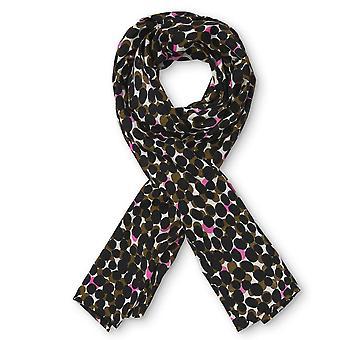MASAI CLOTHING Masai Black And Pink Scarf 1001822