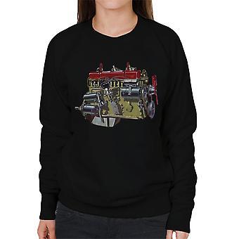 Austin Healey Side View Of Engine British Motor Heritage Women's Sweatshirt