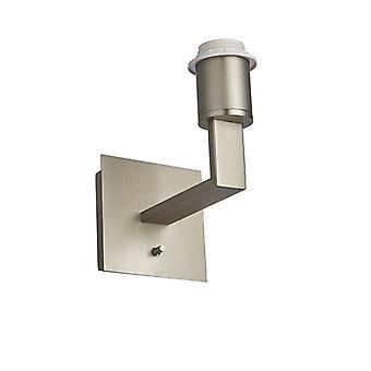 Endon Lighting Norton - Wandleuchte Matt Nickel Platte 1 Licht Dimmbar IP20 - E27