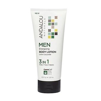 Andalou Naturals Men Energizing Body Lotion, 8.5 Oz