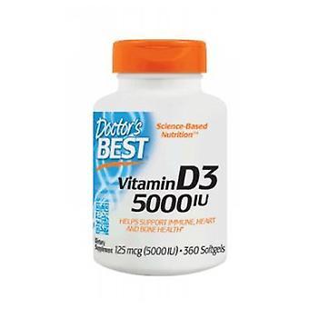 Lääkärit Paras D3-vitamiini, 5000 IU, 360 Softgels