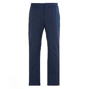 NN07 Foss 1679 Relaxed Navy Trousers