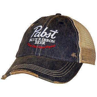 Pabst Blue Ribbon Bier Good Old Flavor Vintage Trucker Hat
