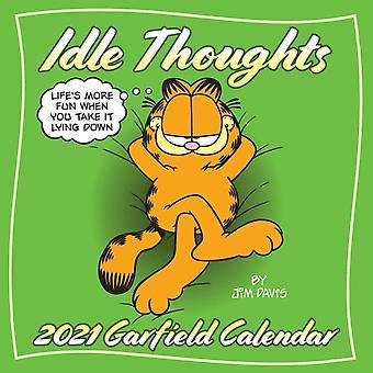 Garfield 2021 Wall Calendar  Idle Thoughts by Jim Davis