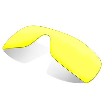 Replacement Lenses for Oakley Batwolf Sunglasses Anti-Scratch Yellow