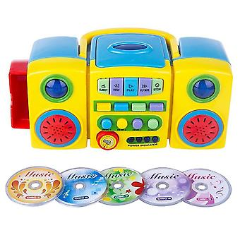 Cd player per bambini, giocattolo musicale educativo, cd audio e video portatile