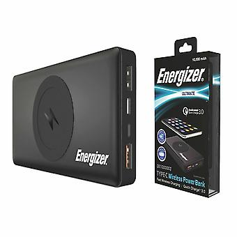 Energizer QE10000CQ draadloze draagbare Qi Charger Power Bank, 10000mAh - Zwart