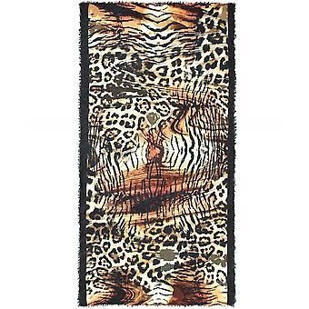 Écharpe en laine imprimé léopard Ahujasons