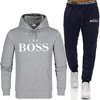 Felpe uomo Moda Boss Set, Felpe+pantaloni della tuta Per l'Autunno/Inverno
