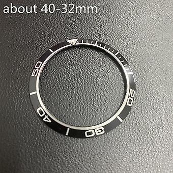 Keramická vložka Dial pre Omega Rám mora Master 007, hodinky nahradiť príslušenstvo