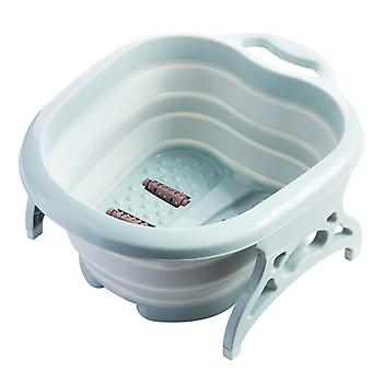 Portable Folding Travel Foot Wash Basin Foot Spa Bubble Massage Bathtub Barrel