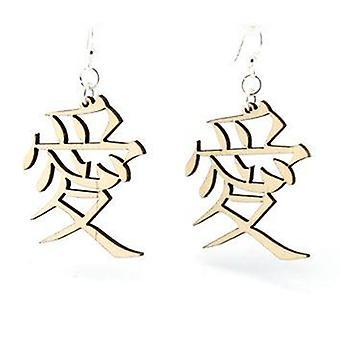 Kanji Symbol Love Earrings
