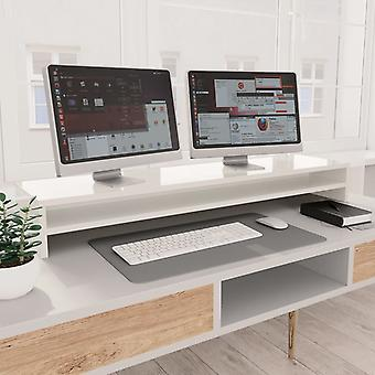 Monitor stand high gloss white 100×24×13 cm chipboard