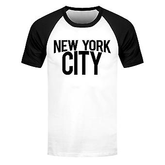 Grindstore Herre New York City kortærmet Baseball T-shirt